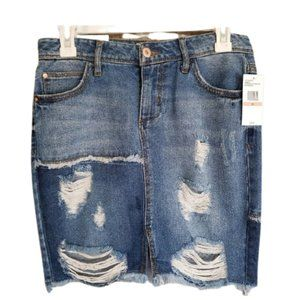 "Jessica Simpson Seaside Adored Denim Skirt 26"""